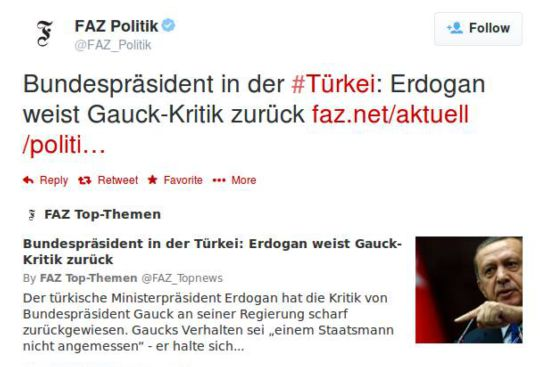 Gauck in Turkey